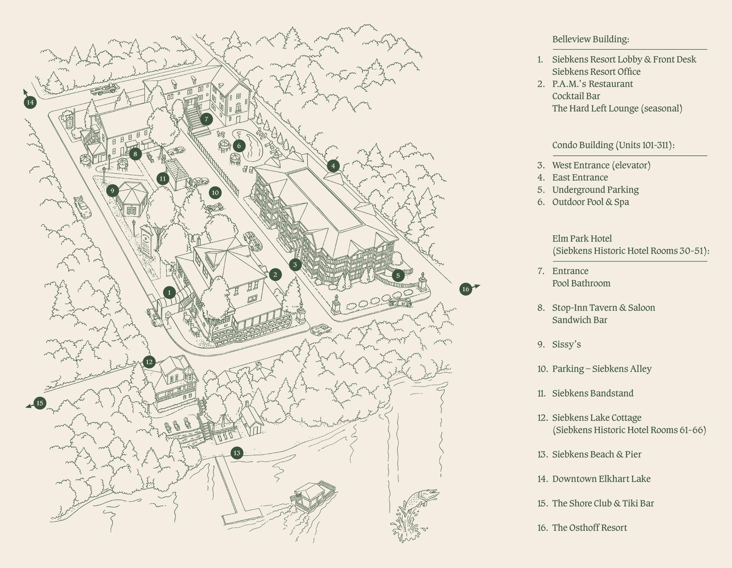 Siebkens Resort Map